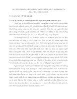 MỘT SỐ GIẢI PHÁP NHẰM HOÀN THIỆN CHÍNH SÁCH SẢN PHẨM TẠI KHÁCH SẠN THẮNG LỢI
