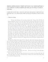 PHƯƠNG HƯỚNG HOÀN THIỆN KẾ TOÁN XÁC ĐỊNH KẾTQUẢ TÀI CHÍNH VÀ PHÂN PHỐI LỢI NHUẬN Ở CÔNG TYTHAN NỘI ĐỊA