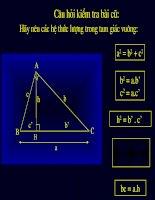 các hệ thức lượng trong tam giác