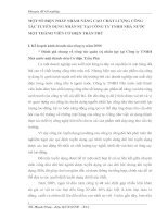 MỘT SỐ BIỆN PHÁP NHẰM NÂNG CAO CHẤT LƯỢNG CÔNG TÁC TUYỂN DỤNG NHÂN SỰ TẠI CÔNG TY TNHH NHÀ NƯỚC MỘT THÀNH VIÊN CƠ ĐIỆN TRẦN PHÚ