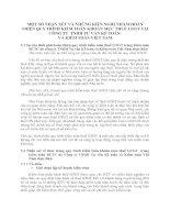 MỘT SỐ NHẬN XÉT VÀ NHỮNG KIẾN NGHỊ NHẰM HOÀN THIỆN QUY TRÌNH KIỂM TOÁN KHOẢN MỤC THUẾ GTGT TẠI CÔNG TY  TNHH TƯ VẤN KẾ TOÁN