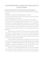 CÁC GIẢI PHÁP NÂNG CAO HIỆU QUẢ SỬ DỤNG VỐN CỦA CẢNG HẢI PHÒNG
