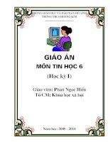 BÌA GIÁO ÁN TIN HOC 6