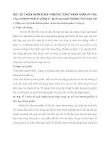 MỘT SỐ Ý KIẾN NHẰM HOÀN THIỆN KẾ TOÁN THÀNH PHẨM VÀ TIÊU THỤ THÀNH PHẨM Ở CÔNG TY DỊCH VỤ NUÔI TRỒNG THUỶ SẢN TW