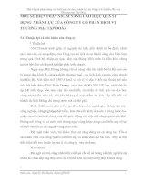 MỘT SỐ BIỆN PHÁP NHẰM NÂNG CAO HIỆU QUẢ SỬ DỤNG  NHÂN LỰC CỦA CÔNG TY CỔ PHẦN DỊCH VỤ THƯƠNG MẠI TẬP ĐOÀN