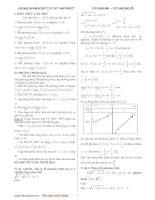 Ứng dụng đạo hàm giải phương trình, bất phương trình của hàm số