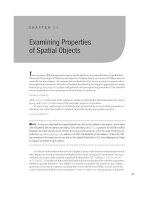 Examining properties of spatial objects