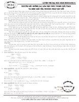 Chuyên đề: Những sai lầm gặp phải trong giải toán và hiệu quả của phương pháp quy đổi - Ngô Xuân Quỳnh
