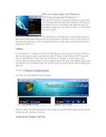 Biến các chức năng của Windows XP/Vista giống như Windows 7