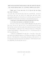 MỘT SỐ GIẢI PHÁP NHẰM HẠN CHẾ RỦI RO TÍN DỤNG TẠI  NGÂN HÀNG ĐẦU TƯ VÀ PHÁT TRIỂN CẦU GIẤY