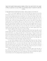 MỘT SỐ Ý KIẾN NHẰM HOÀN THIỆN CÔNG TÁC KẾ TOÁN VẬT LIỆU  CÔNG CỤ DỤNG CỤ TẠI CÔNG TY CỔ PHẦN MAY VÀ DỊCH VỤ HƯNG LONG