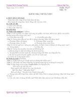Giáo án Ngữ Văn 9 tuần 16,17 CKTKN