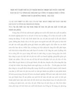 MỘT SỐ Ý KIẾN ĐỀ XUẤT NHẰM HOÀN THIỆN KẾ TOÁN CHI PHÍ SẢN XUẤT VÀ TÍNH GIÁ THÀNH TẠI CÔNG TY KHAI THÁC CÔNG TRÌNH THUỶ LỢI SÔNG NHUỆ   HÀ TÂY