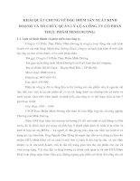 KHÁI QUÁT CHUNG VỀ ĐẶC ĐIỂM SẢN XUẤT KINH DOANH VÀ TỔ CHỨC QUẢN LÝ CỦA CÔNG TY CỔ PHẦN THỰC PHẨM MINH DƯƠNG
