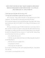 PHÂN TÍCH VÀ ĐÁNH GIÁ THỰC TRẠNG NGHIỆP VỤ KÊNH PHÂN PHỐI SẢN PHẨM DỊCH VỤ PHẦN MỀM TIN HỌC  CỦA CÔNG TY PHÁT TRIỂN ĐẦU TƯ  CÔNG NGHỆ FPT