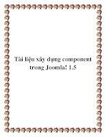 Tài liệu xây dựng component trong Joomla! 1.5