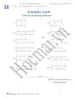 Các bài toán giải hệ phương trình (Bài tập và hướng dẫn giải)