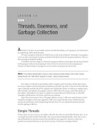 Threads, Daemons, and Garbage Collection