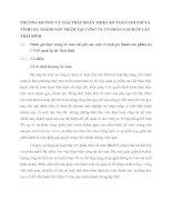 PHƯƠNG HƯỚNG VÀ GIẢI PHÁP HOÀN THIỆN KẾ TOÁN CHI PHÍ VÀ TÍNH GIÁ THÀNH SẢN PHẨM TẠI CÔNG TY CỔ PHẦN GẠCH ỐP LÁT THÁI BÌNH