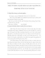 THỰC TẾ CÔNG TÁC KẾ TOÁN VẬT LIỆU TẠI CÔNG TY TNHH PHỤ TÙNG VÀ TƯ VẤN Ô TÔ