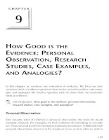 personal observation as evidence