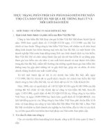 THỰC TRẠNG PHÂN PHỐI SẢN PHẨM BẢO HIỂM PHI NHÂN THỌ CỦA BẢO VIỆT HÀ NỘI QUA HỆ THỐNG ĐẠI LÝ VÀ MÔI GIỚI BẢO HIỂM