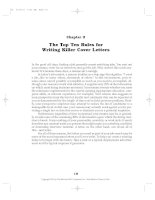 The Top Ten Rules for Writing Killer Cover Letters