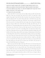 MỘT SỐ Ý KIẾN NHẬN XÉT VÀ KIẾN NGHỊ NHẰM NÂNG CAO HIỆU QUẢ KIỂM TOÁN DOANH THU TRONG KIỂM TOÁN BÁO CÁO TÀI CHÍNH TẠI CÔNG TY TRÁCH NHIỆM HỮU HẠN KẾ TOÁN KIỂM  TOÁN TƯ VẤN VIỆT NAM