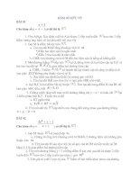 Lý thuyết về hàm số và các bài tập cơ bản đến nâng cao kèm theo