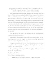 THỰC TRẠNG KẾ TOÁN BÁN HÀNG TẠI CÔNG TY CỔ PHẦN ĐIỆN MÁY HÓA CHẤT THANH HÓA