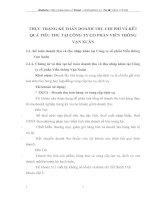THỰC TRẠNG KẾ TOÁN DOANH THU CHI PHÍ VÀ KẾT QUẢ TIÊU THỤ TẠI CÔNG TY CỔ PHẦN VIỄN THÔNG VẠN XUÂN