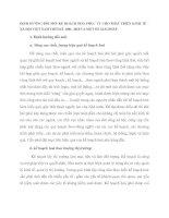 ĐỊNH HƯỚNG ĐỔI MỚI KẾ HOẠCH HOÁ PHỤC VỤ CHO PHÁT TRIỂN KINH TẾ – XÃ HỘI VIỆT NAM THỜI KỲ 2001- 2010 VÀ MỘT SỐ GIẢI PHÁP