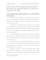 MỘT SỐ GIẢI PHÁP NHẰM HOÀN THIỆN QUY TRÌNH NHẬP KHẨU MẶT HÀNG HẠT NHỰA CỦA CÔNG TY CỔ PHẦN HOÁ CHẤT NHỰA