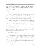 MỘT SỐ GIẢI PHÁP DUY TRÌ VÀ MỞ RỘNG THỊ TRƯỜNG TIÊU THỤ SẢN PHẨM CỦA CÔNG TY TNHH TRANG BỊ BẢO HỘ LAO ĐỘNG HƯNG THỊNH