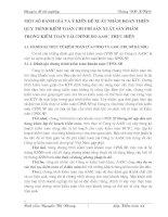 MỘT SỐ ĐÁNH GIÁ VÀ Ý KIẾN ĐỀ XUẤT NHẰM HOÀN THIỆN QUY TRÌNH KIỂM TOÁN CHI PHÍ SẢN XUẤT SẢN PHẨM TRONG KIỂM TOÁN TÀI CHÍNH DO AASC THỰC HIỆN