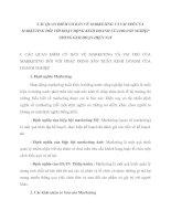 CÁC QUAN ĐIỂM CƠ BẢN VỀ MARKETING VÀ VAI TRÒ CỦA MARKETING ĐỐI VỚI HOẠT ĐỘNG KINH DOANH CỦA DOANH NGHIỆP TRONG GIAI ĐOẠN HIỆN NAY