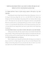 NHỮNG GIẢI PHÁP NÂNG CAO CHẤT LƯỢNG TÍN DỤNG TẠI NHNO VÀ PTNT CHI NHÁNH NAM HÀ NỘI