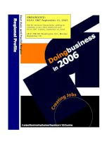 Doing Business in 2006- East Asia and Pacific Region