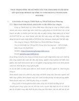 THỰC TRẠNG CÔNG TÁC KẾ TOÁN TIÊU THỤ HÀNG HOÁ VÀ XÁC ĐỊNH KẾT QUẢ KINH DOANH TẠI CÔNG TY TNHH DỊCH VỤ TM XNK NAM PHƯƠNG