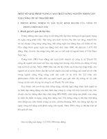 MỘT SỐ GIẢI PHÁP NÂNG CAO CHẤT LƯỢNG NGUỒN NHÂN LỰC TẠI CÔNG TY SỨ THANH TRÌ