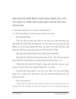 MỘT SỐ GIẢI PHÁP HOÀN THIỆN HOẠT ĐỘNG MUA NVL TẠI CÔNG TY TNHH NHÀ NƯỚC MỘT THÀNH VIÊN DỆT 19
