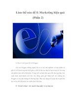 Làm thế nào để E-Marketing hiệu quả (Phần 2)