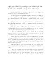PHƯƠNG HƯỚNG VÀ GIẢI PHÁP TĂNG CƯỜNG QUẢN LÝ NHÀ NƯỚC VỀ TIÊU CHUẨN HOÁ ĐỐI VỚI  NÔNG SẢN - THỰC PHẨM