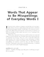 Words That Appear to Be Misspellings of