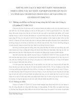 NHỮNG TỒN TẠI VÀ MỘT SỐ Ý KIẾN NHẰM HOÀN THIỆN CÔNG TÁC KẾ TOÁN TẬP HỢP CHI PHÍ SẢN XUẤT VÀ TÍNH GIÁ THÀNH SẢN PHẨM XÂY LẮP TẠI CÔNG TY CỔ PHẦN 873 XDCTGT