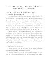 LÝ LUẬN CƠ BẢN VỀ CHẤT LƯỢNG TÍN DỤNG NGÂN HÀNG TRONG NỀN KINH TẾ THỊ TRƯỜNG