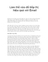 Làm thế nào để tiếp thị hiệu quả với Email