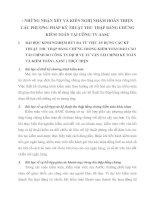 NHỮNG NHẬN XÉT VÀ KIẾN NGHỊ NHẰM HOÀN THIỆN CÁC PHƯƠNG PHÁP KỸ THUẬT THU THẬP BẰNG CHỨNG KIỂM TOÁN TẠI CÔNG TY AASC