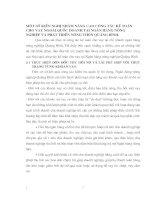 MỘT SỐ KIẾN NGHỊ NHẰM NÂNG CAO CÔNG TÁC KẾ TOÁN CHO VAY NGOÀI QUỐC DOANH TẠI NGÂN HÀNG NÔNG NGHIỆP VÀ PHÁT TRIỂN NÔNG THÔN QUẢNG BÌNH.