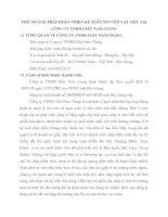 MỘT SỐ GIẢI PHÁP HOÀN THIỆN KẾ TOÁN NGUYÊN VẬT LIỆU TẠI  CÔNG TY TNHH GIẦY NAM GIANG